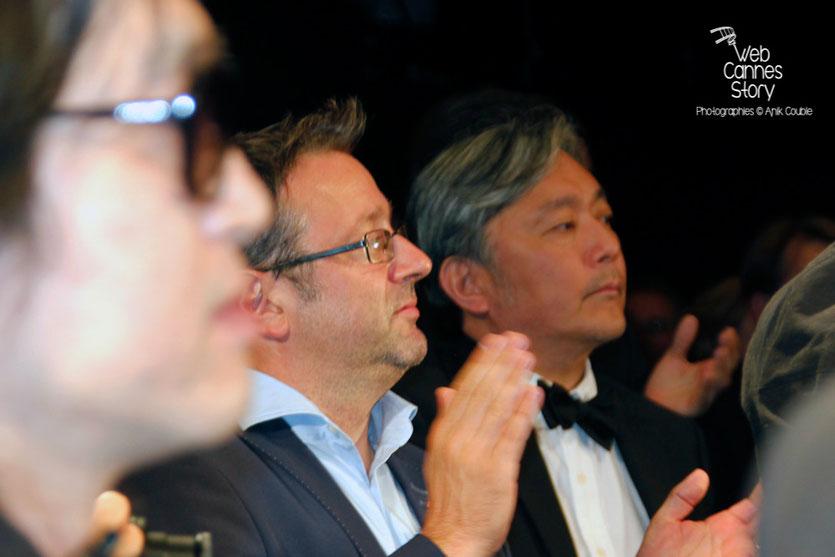 """Vincent Maraval, fondateur de Wild Bunch, lors de la projection du film """"The assassin"""" de Hou Hsiao-Hsien - Festival de Cannes 2015 - Photo © Anik COUBLE"""