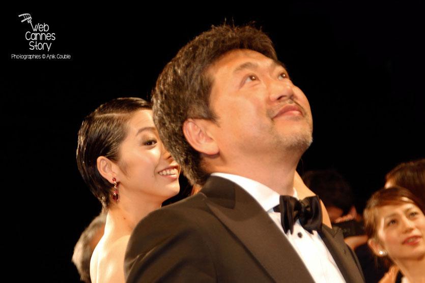 """Hirokazu KORE-EDA, lors de la projection de son film """" Notre petite soeur """" - Festival de Cannes 2015 - Photo © Anik COUBLE"""