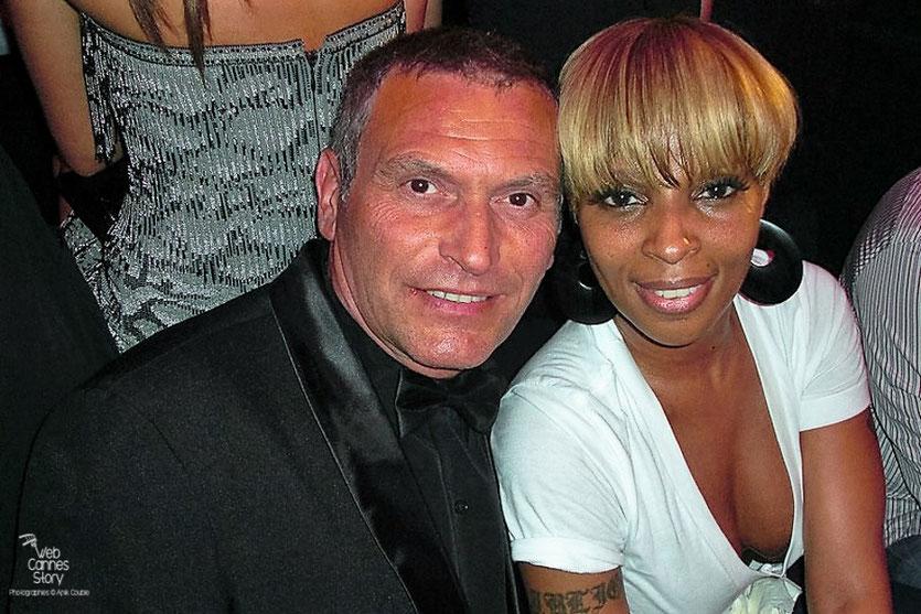 Serge Mauro et Mary J Blige au Vip Room - Festival de Cannes 2010 - Photo © Anik Couble