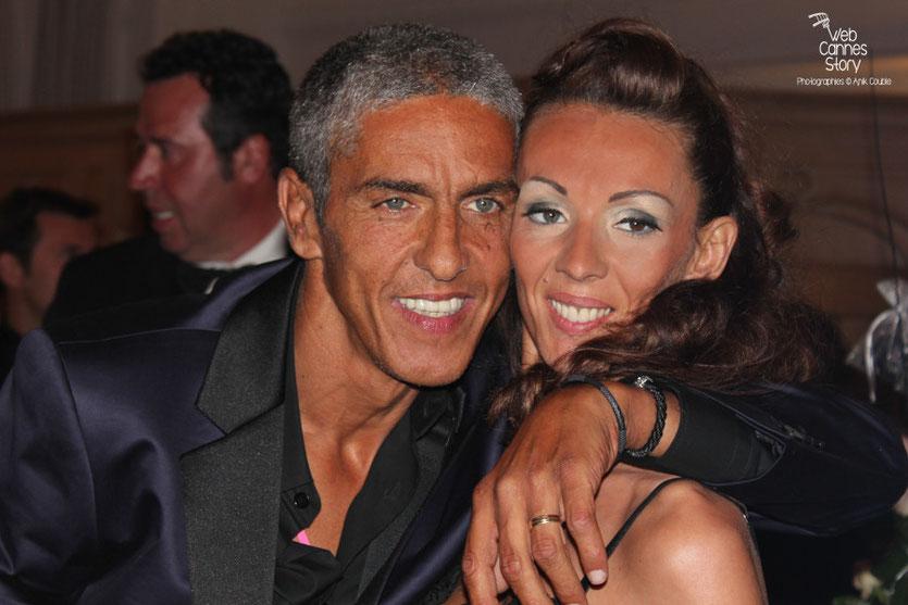 Sami Naceri et sa compagne,  lors du dîner donné en l'honneur de Jean-Paul Belmondo, au Carlton - Festival de Cannes 2011 - Photo © Anik Couble