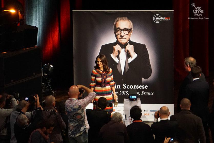 Salma Hayek - Prix Lumière à Martin Scorsese - Festival Lumière - Lyon - Oct 2015 - Photo © Anik COUBLE