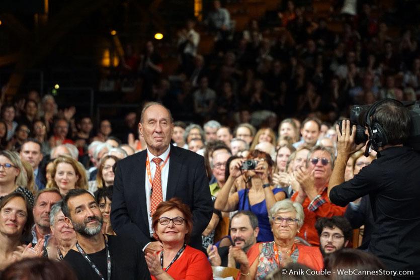 Max Lefranq-Lumiere, petit-fils de Louis Lumière, au milieu du public, lors de la cérémonie d'ouverture du Festival Lumière 2018 - Lyon - Photo © Anik Couble