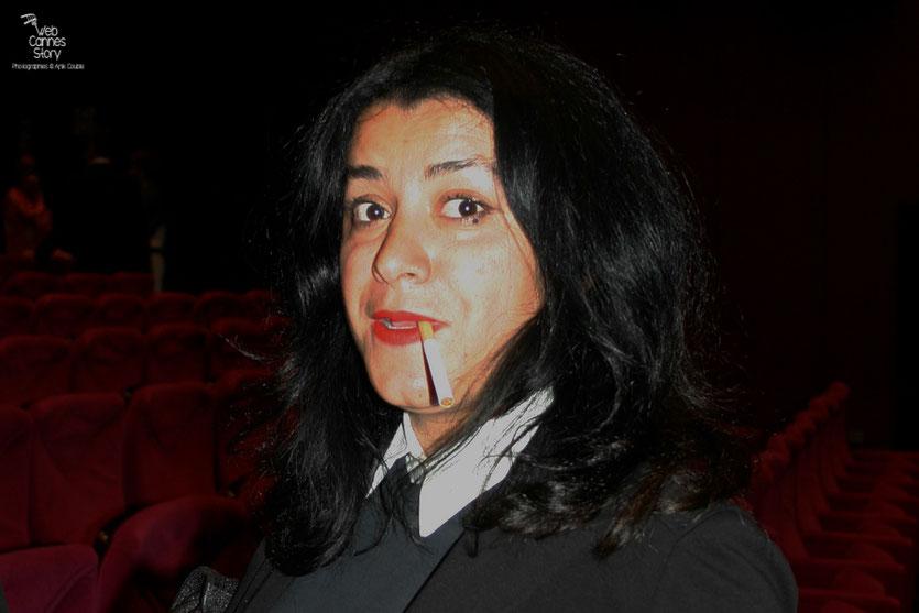 """Marjane Satrapi, dans le public, lors de la projection du film """" La Princesse de Montpensier """"  de Bertrand Tavernier - Festival de Cannes 2010 - Photo © Anik Couble"""