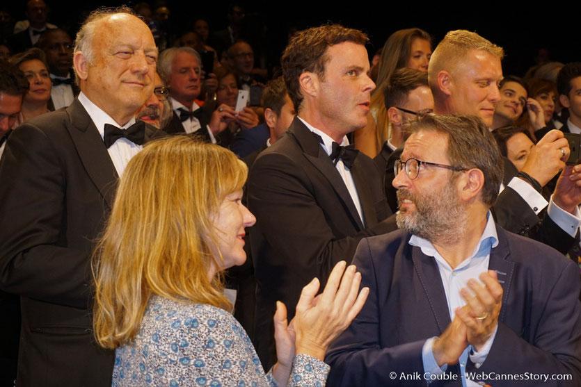 """Vincent Maraval (Wild Bunch) et son épouse, venus assister à la projection du film, """"You were never really here"""", de Lyne Ramsay - Festival de Cannes 2017 - Photo © Anik Couble"""