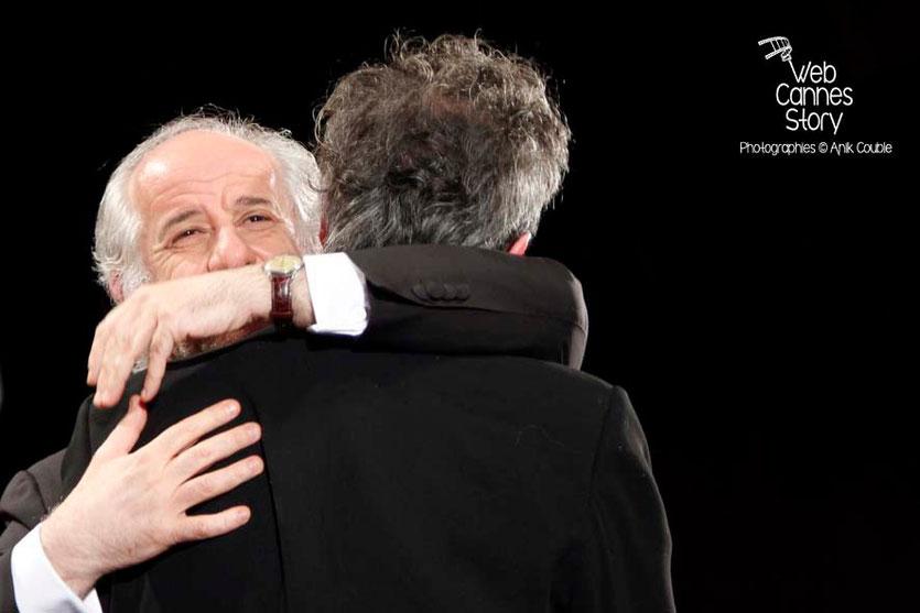 Toni Servillo et Paolo Sorrentino lors de la projection de son film «La Grande Bellezza» - Festival de Cannes 2013 © Anik COUBLE