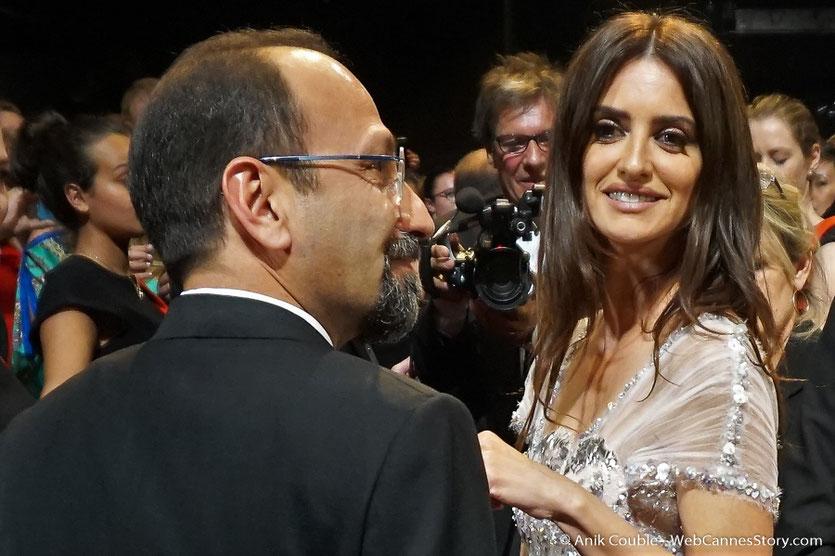 Penélope Cruz et Asghar Farhadi, réalisateur du film, Todos lo saben (Everybody Knows), présenté, en ouverture du Festival de Cannes 2018 - Photo © Anik Couble