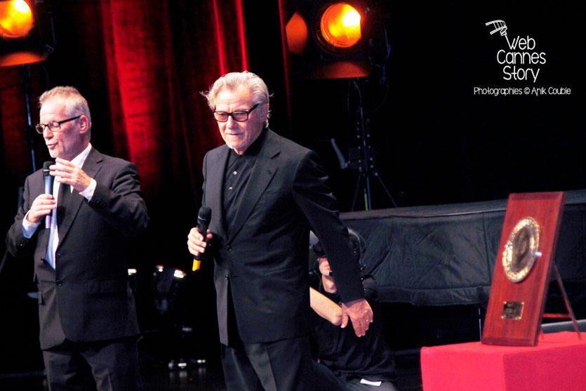 Thierry Fremaux et Harvey Keitel - Remise du Prix Lumière -  Festival Lumière - Lyon - Oct 2013 - Photo © Anik COUBLE