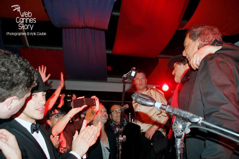Rachid Tahar et et Tony Gatlif, lors de la soirée du film «Géronimo» de Tony Gatlif - Festival de Cannes 2014 - Photo © Anik COUBLE