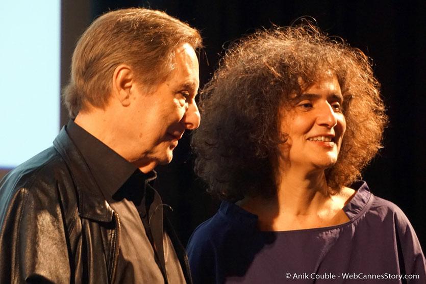 William Friedkin et Massoumeh Lahidji, la géniale traductrice,  lors de la présentation, de son film Le Convoi de la peur,  à l'Institut Lumière - Festival Lumière 2017 - Photo © Anik Couble