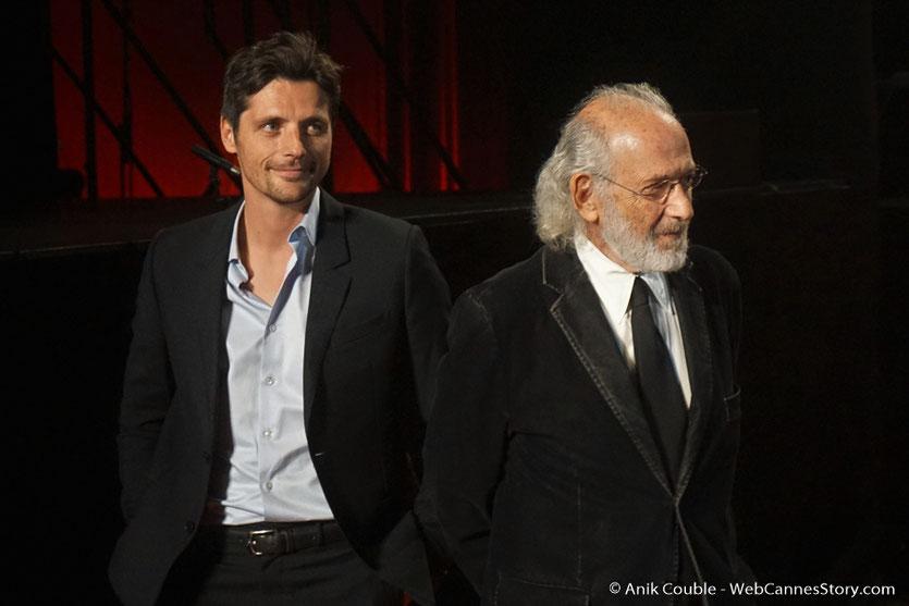 Raphaël Personnaz et Jerry Schatzberg, sur le tapis rouge, lors de la cérémonie d'ouverture du Festival Lumière 2018 - Lyon - Photo © Anik Couble