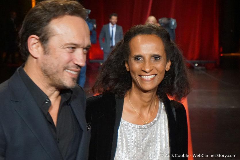 Vincent Perez et Karine Silla- Cérémonie d'ouverture - Festival Lumière 2016 - Lyon - Photo © Anik Couble