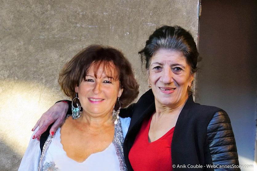 """Chaleureuses retrouvailles avec Biyouna, la formidable actrice algérienne, lors de la présentation du film  """"Délice Paloma"""" de Nadir Moknèche, lors du Festival  Lumière 2018 - Lyon - Photo © Anik Couble"""