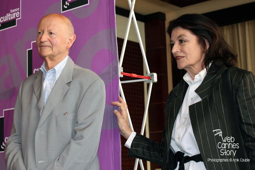 Gilles Jacob et Anouk Aimé, lors de la remise du Prix France Culture - Festival de Cannes 2011 - Photo © Anik COUBLE