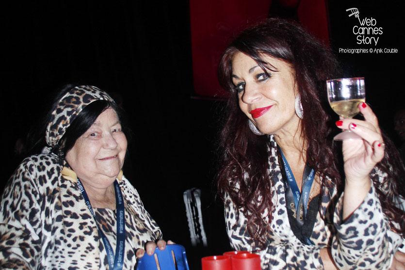 Pascaline Benito et Esméralda Petit-Benito, les célèbres femmes panthères, lors de la soirée du Film « Love » de Gaspard Noé - Festival de Cannes 2015 - Photo © Anik COUBLE