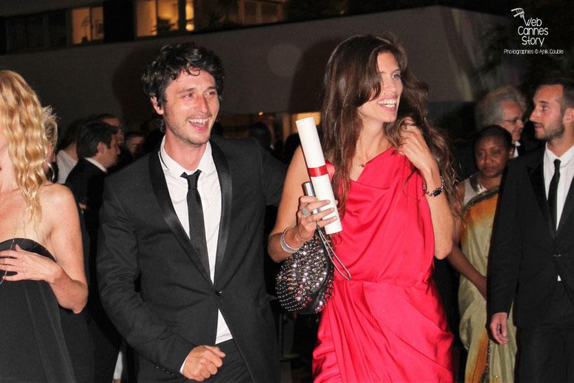 Jérémie Elkaïm et Maïwenn - Prix du Jury  pour  «Polisse» - Festival de Cannes 2011 - Photo © Anik Couble