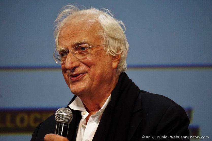 Bertrand Tavernier, réalisateur, scénariste, producteur, écrivain français, Président de l'Institut Lumière, sur scène,  lors de la cérémonie d'ouverture du Festival Lumière 2017 - Lyon - Photo © Anik Couble