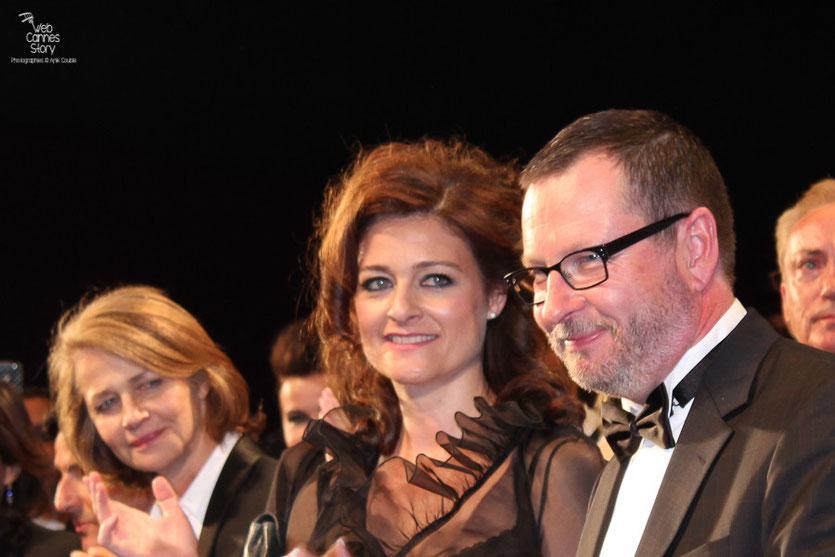 """Lars Von Trier et Charlotte Gainsbourg,  lors de la projection de """"Melancholia"""" de Lars Von Trier - Festival de Cannes 2011 - Photo © Anik Couble"""