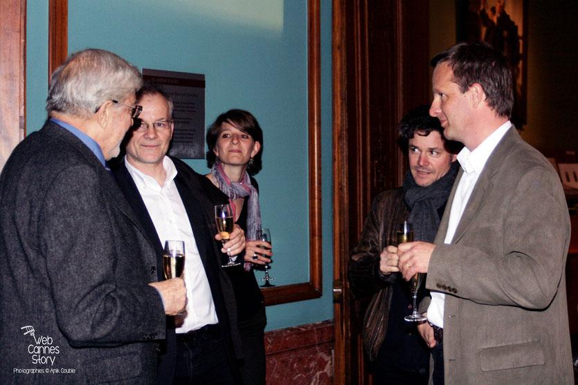 Ettore Scola, en compagnie de Thierry Frémaux,  Maëlle Arnaud, Eric Guirado et Grégory Faes   - Institut Lumière - Lyon - 29 avril 2009 - Photo © Anik Couble