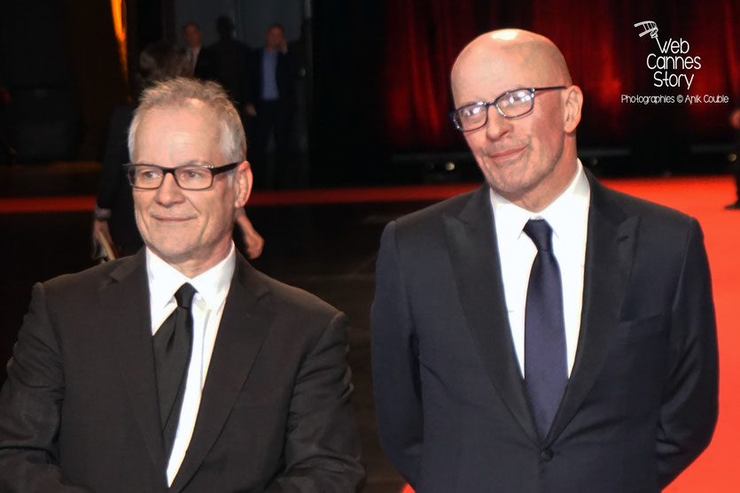 Jack Audiard et Thierry Fremaux, lors de la cérémonie d'ouverture du Festival Lumière 2015 - Lyon - Photo © Anik COUBLE