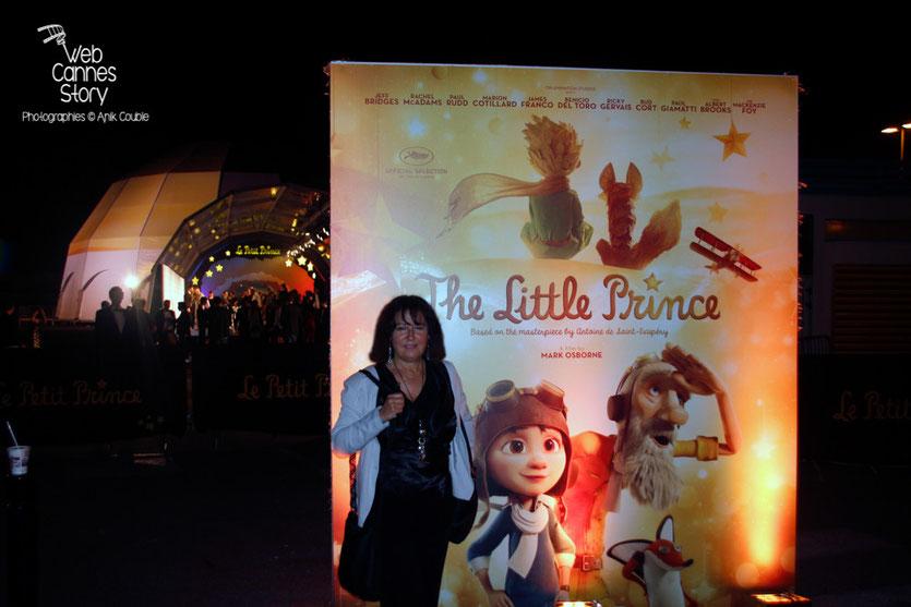 """Anik COUBLE, lors de la soirée du film """" Le petit prince """" de Mark Osborne - Festival de Cannes 2015 - Photo © Anik COUBLE"""