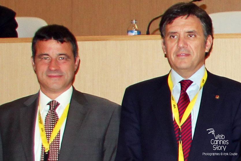 Mark Kenber, PDG de The Climate Group et Lluis Recorder I Miralles, Ministre du Territoire et de la Durabilité de la Catalogne, Co-Président de nrg4SD - Lyon - 2011  © Anik COUBLE