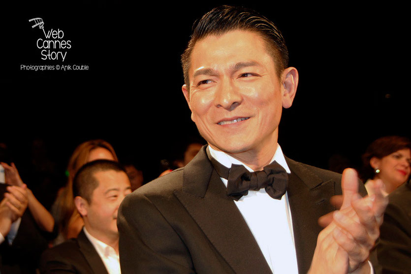 "Andy Lau, lors de la projection du film ""Blind Detective"" de Johnnie To - Festival de Cannes 2013 - Photo © Anik COUBLE"