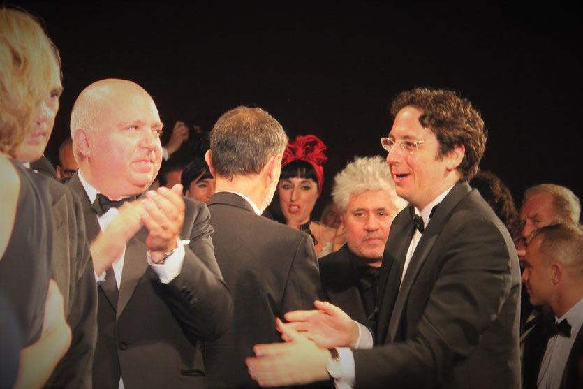 "Pedro Almodovar, lors de la projection de son film  ""La Piel que Habito"" - Festival de Cannes 2011 - Photo  © Anik Couble"
