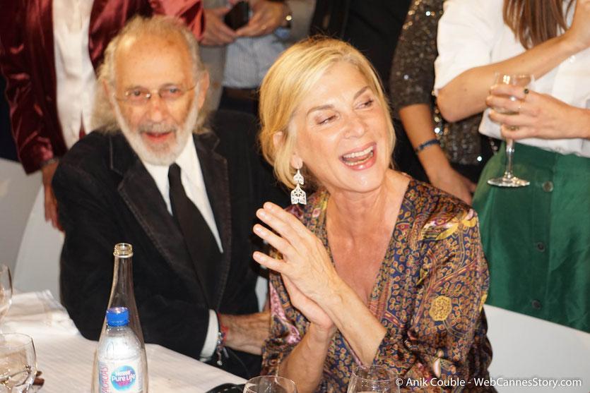 L'actrice française, Michèle Laroque, en compagnie du réalisateur américain, Jerry Schatzberg, lors du très convivial dîner d'ouverture du Festival Lumière 2018 - Lyon - Photo © Anik Couble