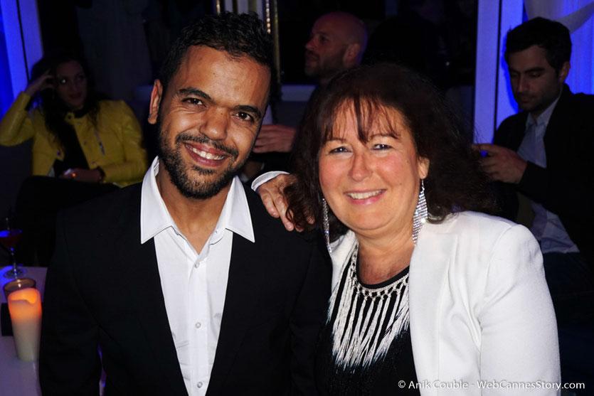 """Anouar Toubali et Anik Couble, dans le salon """"Madame Monsieur"""" de L'Hôtel Carlton - Festival de Cannes 2016 - Photo © Anik Couble"""