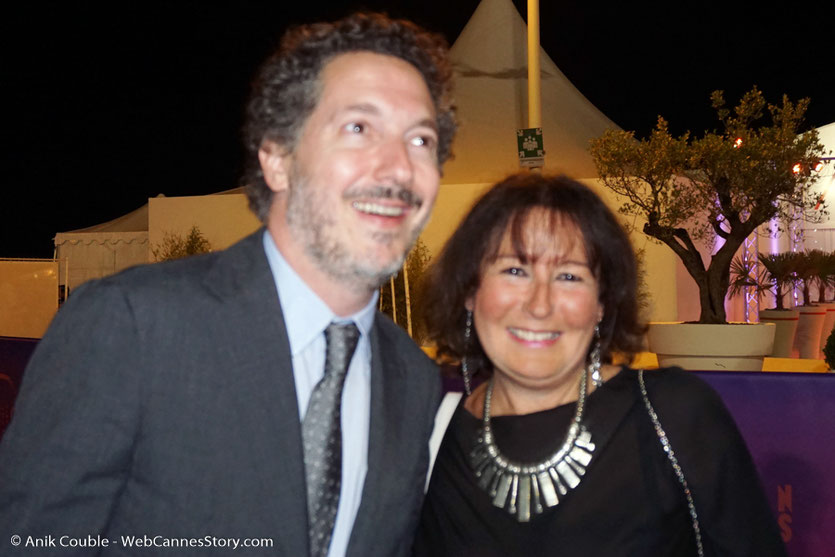 En compagnie de Guillaume Gallienne - Festival de Cannes 2017 - Photo © Anik Couble