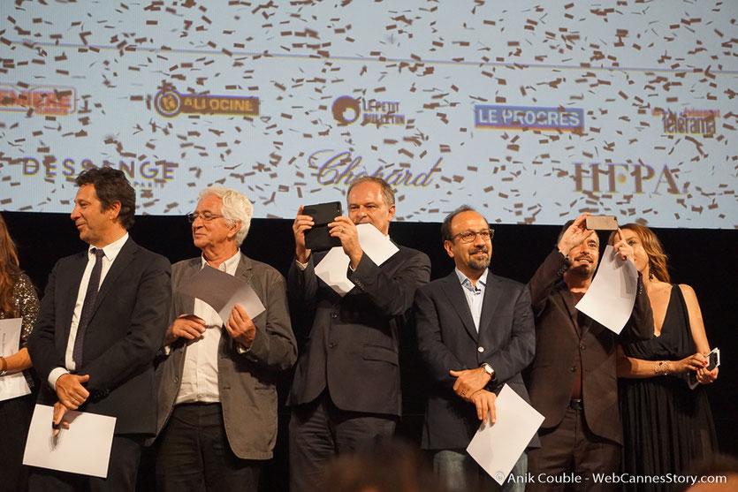 Les invités sur scène, lors de la cérémonie d'ouverture du Festival Lumière 2018 - Lyon - Photo © Anik Couble