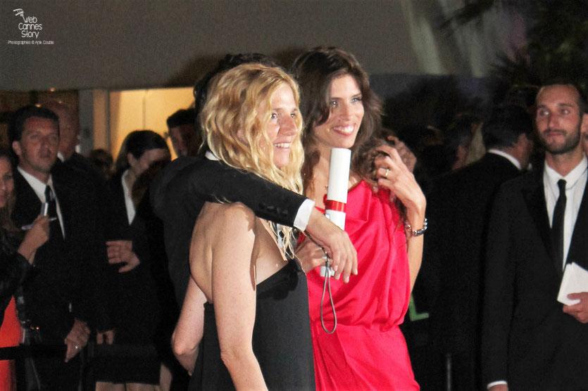 Sandrine Kiberlein et Maïwenn - Prix du Jury  pour  «Polisse» - Festival de Cannes 2011 - Photo © Anik Couble