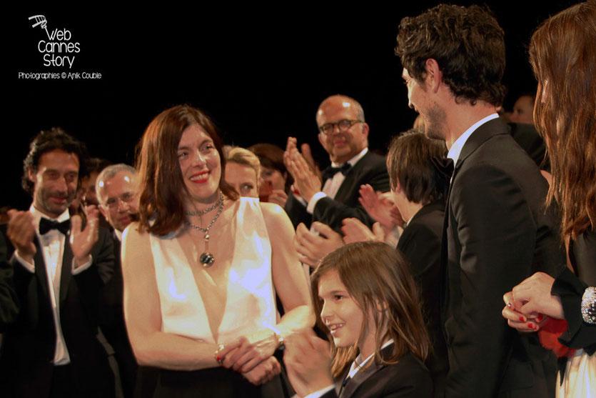 """Jérémie Elkaïm et Valérie Donzelli, lors la projection du film  """"Marguerite et Julien"""" de Valérie Donzelli  -  Festival de Cannes 2015 - Photo © Anik COUBLE"""