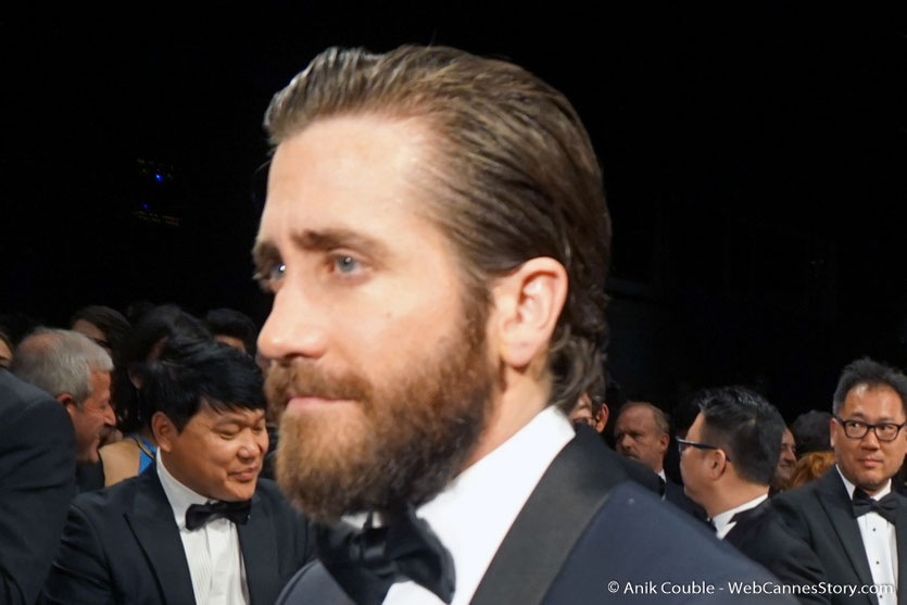 Jake Gyllenhaal, lors de la projection du film Okja de Bong Joon Ho - Festival de Cannes 2017 - Photo © Anik Couble