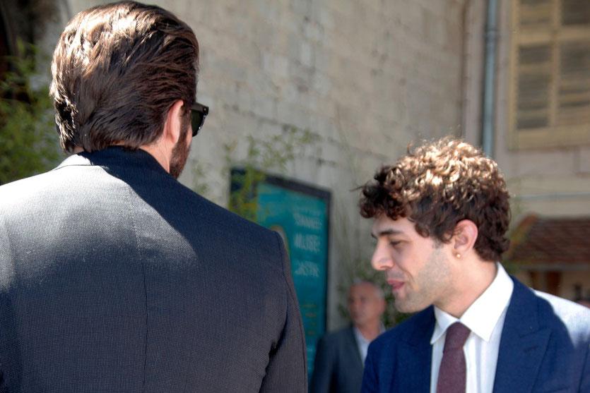 Jake GYLLENHAAL et Xavier DOLAN, membres du Jury, lors du traditionnel déjeuner de presse, offert par le maire de Cannes - Festival de Cannes 2015 - Photo © Anik COUBLE