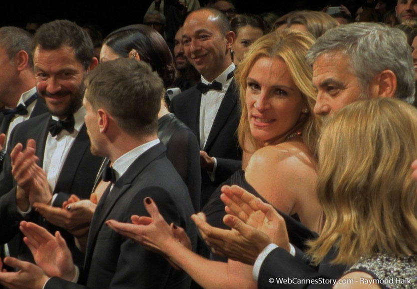 "Julia Roberts et George Clooney, lors de la projection du film "" Money Monster""  de Jodie Foster - Festival de Cannes 2016 - Photo © Anik Couble"