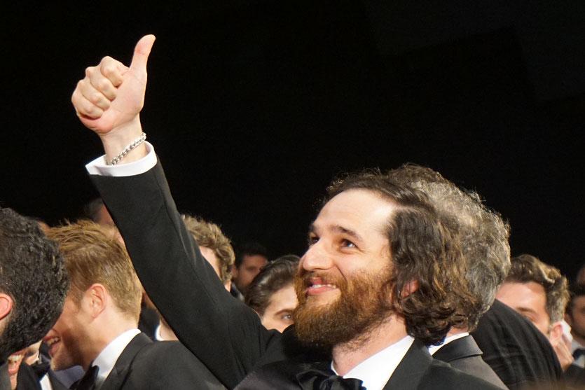 """Josh Safdie, lors la projection de son film """"Good Time"""" coréalisé avec son frère Benny Safdie - Festival de Cannes 2017 - Photo © Anik Couble"""