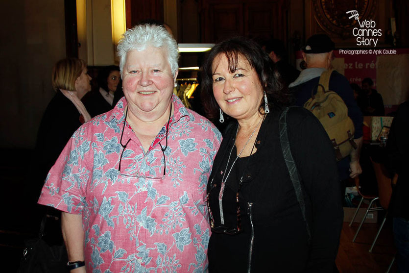 Val McDermid (Ecosse) et Anik Couble - Quais du Polar 2015 - Lyon - Photo © Anik COUBLE