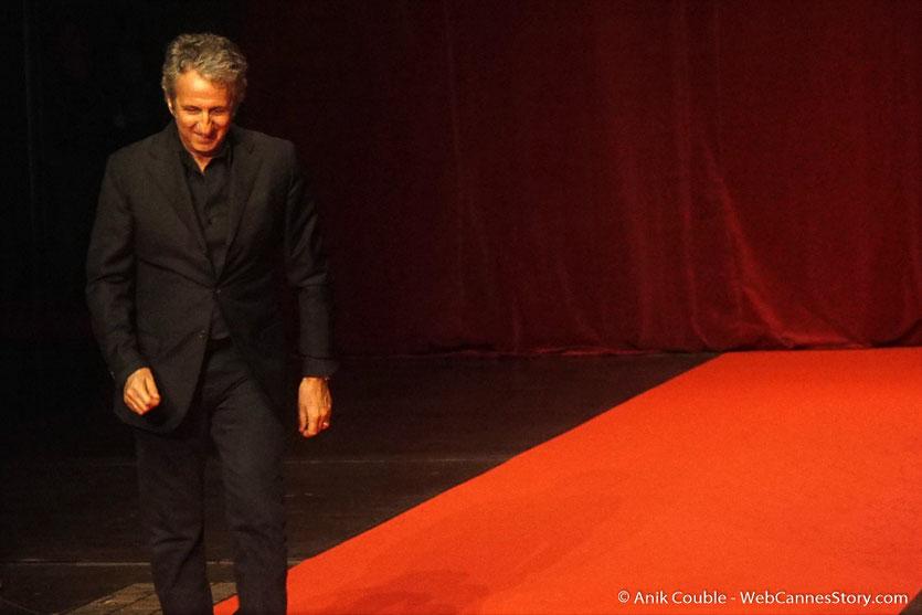Richard Anonina, sur le tapis rouge, lors de la cérémonie d'ouverture du Festival Lumière 2018 - Lyon - Photo © Anik Couble