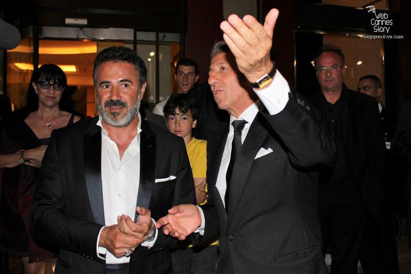 """José Garcia et Richard Anconina en promo du film  """"La verité si je mens 3 """" de Thomas Gilou, à l'Hôtel Martinez - Festival de Cannes 2011 - Photo  © Anik Couble"""