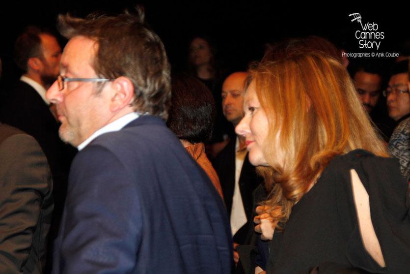 """Vincent Maraval, fondateur de Wild Bunch et son épouse, lors de la projection du film """"The assassin"""" de Hou Hsiao-Hsien - Festival de Cannes 2015 - Photo © Anik COUBLE"""