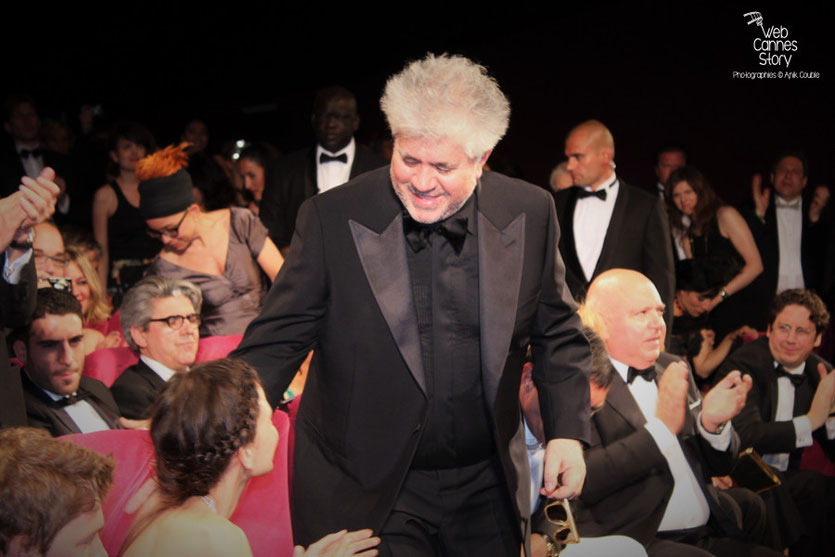 "Pedro Almodovar, lors de la projection de son film  ""La Piel que Habito"" - Festival de Cannes 2011 - Photo  © Anik Couble"