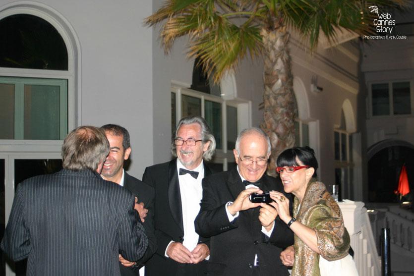 Robert Barnoin, Raymond Haïk et Monique Serrano-Barnoin - Festival de Cannes 2010 - Photo © Anik Couble