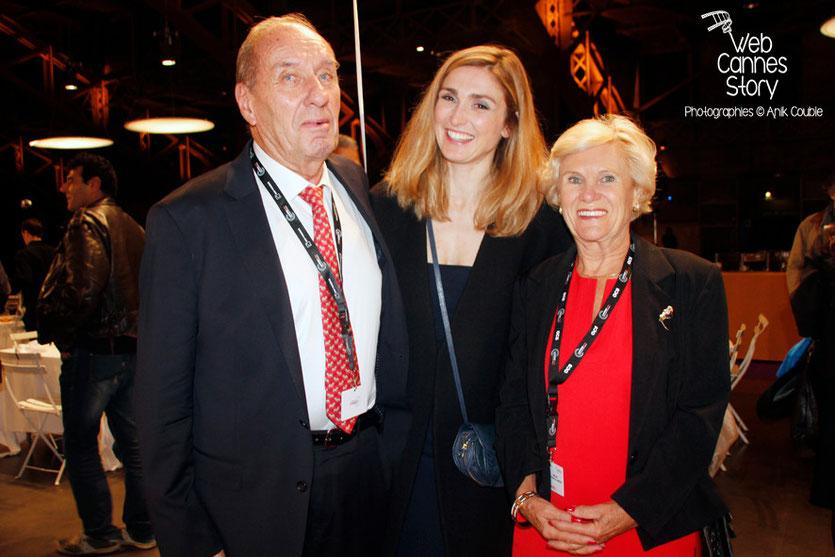 Max Lefrancq-Lumière, petit-fils de Louis Lumière et son épouse Michèle, en compagnie de Julie Gayet - Lyon - Ouverture du Festival Lumière 2014 - Photo © Anik COUBLE