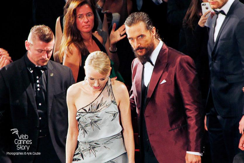 """Matthew McConaughey et Naomi Watts, lors la projection du film """"The sea of trees"""" de Gus Van Sant - Festival de Cannes 2015 - Photo © Anik COUBLE"""