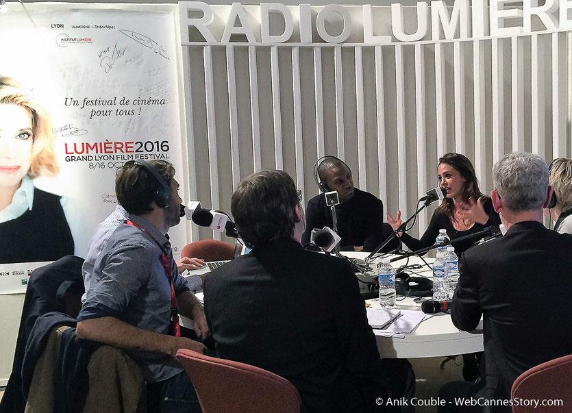 "Abd Al Malik, Alice Belaïdi  à  ""La Grande Emission""de Radio Lumière - Festival Lumière 2016 - Lyon - Photo © Anik Couble"