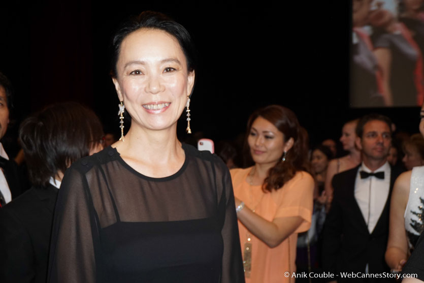 "Naomi Kawase, lors de la projection de ""L'âme de l'immortel"" de Mike Takashi - Festival de Cannes 2017 - Photo © Anik Couble"