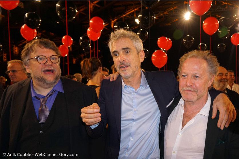 Guillermo del Toro et Alfonso Cuarón, lors du dîner d'ouverture du Festival Lumière 2017, à Lyon - Photo © Anik Couble