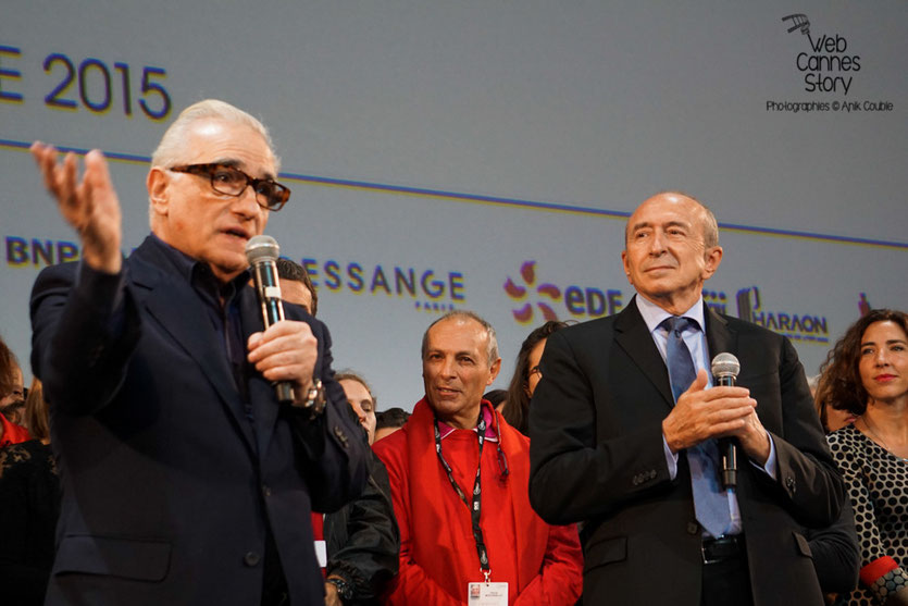 Martin Scorsese et Gérard Collomb - Clôture du Festival Lumière 2015 - Lyon  - Photo © Anik COUBLE