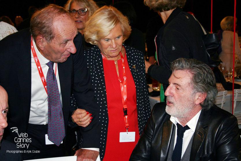 Max Lefrancq-Lumière, petit-fils de Louis Lumière et son épouse Michèle, en conversation avec Daniel Auteuil  - Lyon - Ouverture du Festival Lumière 2015 - Photo © Anik COUBLE